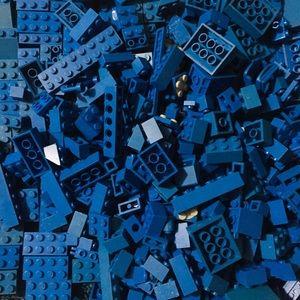 Big Ol' Bag of Blue LEGO